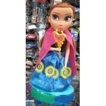 Boneca Do Filme Frozen Musical Anna Bailarina Com Luminoso