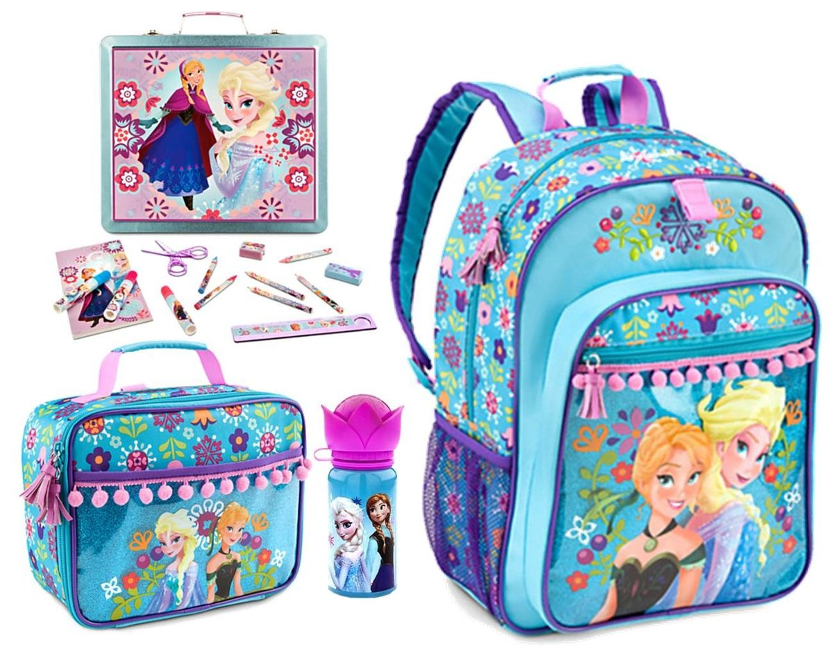 Bolsa Escolar Feminina Da Frozen : Disney frozen mochila lancheira estojo e garrafa