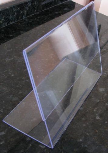 Display Em Acrílico A4 P/ Mesa Ou Parede Vertical Horizontal