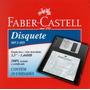 Disquete 3,5 Preto Caixa C/ 10 Faber Castell - Lacrado