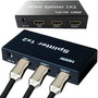 Splitter Distribuidor Hdmi 1x2 Divisor Full Hd 1.3b