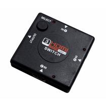 Switch Divisor Hd Hub Hdmi 1.3 Splitter Divisor 3 Portas 3d