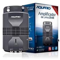 Amplificador De Sinal Aquário 20db Uhf Vhf Hdtv 2 Saídas
