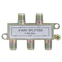 Divisor De Antena 1 Entrada E 4 Saidas - 5-900mhz Spliter F
