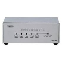 Splitter Distribuidor S-video (svhs) C/ Audio 1x5 - Dsv1x5