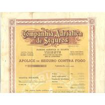 Apolice Companhia Adriatica De Seguros - 1940