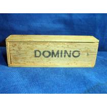 Antigo Dominó De Madeira Completo Usado Na Caixa Original