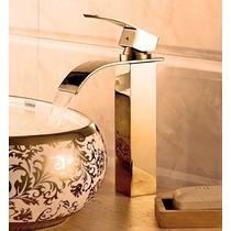 Torneira Dourada Para Banheiro Misturador Alta Monocomando