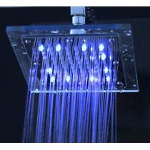 Ducha Chuveiro Led Quadrado Borda Transparente - Veja Video