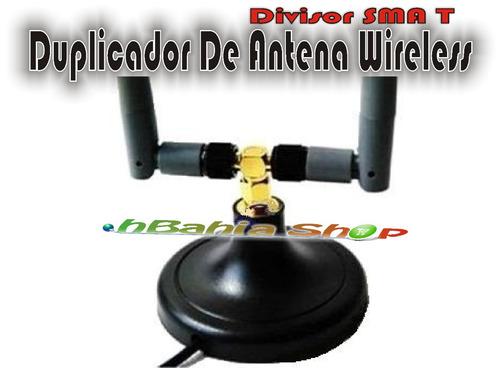 Duplicador T Antena Wireless Rp-sma Splitter Divisor Wi-fi