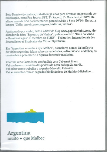 Dvd Argentina Muito + Que Malbec *novo/lançamento*