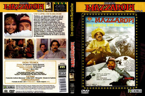 Dvd-mazzaropi - Um Caipira Em Bariloche - Comédia - Anos 60