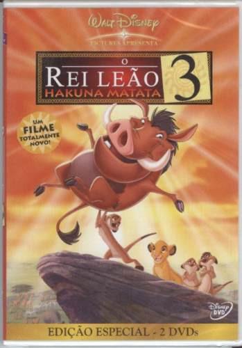 Dvd O Rei Leão 3 - Hakuna Matata - Walt Disney - Lacrado