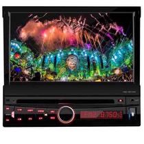 Dvd Retratil 7 Polegadas H-buster Hbd 9810av Usb + Controle