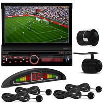 Cd Dvd H Buster 1 Din Retrátil + Câmera Ré + Sensor Estacion