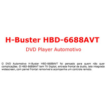 Dvd Player Automotivo H-buster Hbd-6688avt - Tela De 3 Poleg