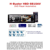 Dvd Player Automotivo H-buster Hbd-8810av - Tela De 3 Polega