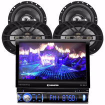 Toca Cd Dvd H Buster 9810 Av Retratil + Kit Falante Bravox