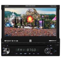 Toca Cd Dvd Retratil 7 Dual Radio Fm Am Usb Sd Bluetooth Rca