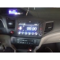 Civic 2015 Central Honda Multimídia Preta New Preto