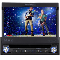 Dvd Positron Retratil Tela Lcd Full Color 7 Polegadas Usb