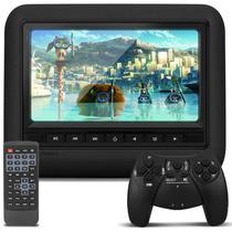 Tela Encosto Caska Dvd Usb Sd Controle Games Smartfit 9 Pol