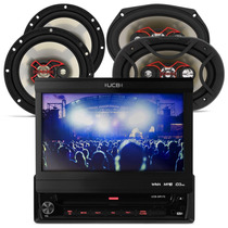 Dvd Carro Retratil 7 + 2 Falante 6 + 6x9 240w Total Bravox