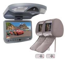 01 Dvd Teto Tela 9 Usb Sd Leitor Sony+ 02 Encostos Cabeca