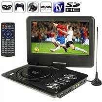 Dvd Portatil Tv 7.8 Tela Digital Gira 270º Usb Sd Fm Jogos