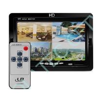 Monitor Tela 7 Polegadas Lcd Cftv Automotivo Controle Fonte