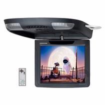 Tela Teto 10,4 Com Leitor Dvd Usb/card Hurricane Flip Down