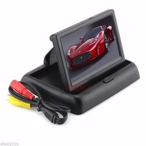 Tela Monitor Veicular 4.3 Vídeo Lcd + Camera Ré Pronta Entr