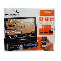Dvd Player Multilaser Retratil P3238 Motion Bluetooth Gps Tv