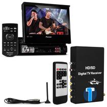 Dvd Retratil Pioneer 7 Polegadas Avh-3580dvd + Receptor Tv