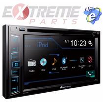 Dvd Pioneer Avh-278bt + Moldura 2din P/ Fiat Idea 2005-2012