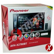 Dvd Player Pioneer Avh-x2780bt + Moldura 2din P/ Fiat Stilo