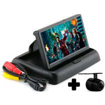 Tela Monitor Veicular 4.3 Vídeo Lcd Com Camera Ré