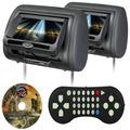 2 Encosto De Cabeça C/ Tela 7 Pol C/ Dvd Jogos Fone Usb Sd