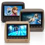 Dvd Player Tela Encosto Cabeça 7 Lcd Game Usb Sd Touchcreen