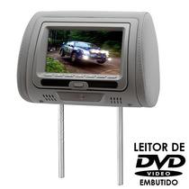 Encosto De Cabeça Tela Lcd 7 Com Dvd Cinza Dvd728c - Kx3