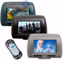 Par Encosto De Cabeça Com Um Leitor De Dvd Sony E 2 Telas 7