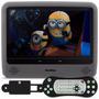 Tela Encosto Cabeça Portátil Monitor 9 Cinza Dvd Usb Sd Av