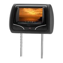 Encosto De Cabeça C/ Lcd Touch 7 Kx3 Com Usb - Preto