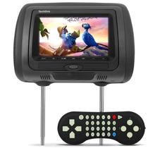 Encosto Cabeça Preto Dvd Player Usb Sd Video Game C Controle