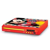 Dvd Player Compact Mickey Vermelho C151 Tectoy Usb