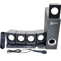 Home Theater Lenoxx, Com Dvd, Rádio Fm, Usb, Karaoke, Ht-7