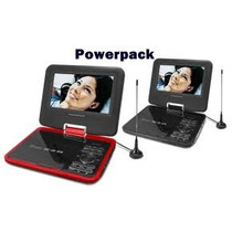 Dvd Portatil Powerpack 7328 Tv Usb Sd Divx Mp3 Jogo Fm Vcd