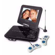 Dvd Player Portátil Powerpack Dvd-tv7328 Cor Preta Com Nf Cc