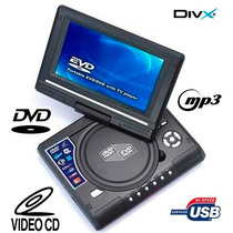 Dvd Portatil 7.8 | Mp3 | Leitor De Cartao | Jpg | Games | Tv