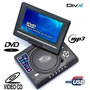 Dvd Portatil 7.8 Tv/usb/sd/jogos Tela Girat. 270° Fm Radio